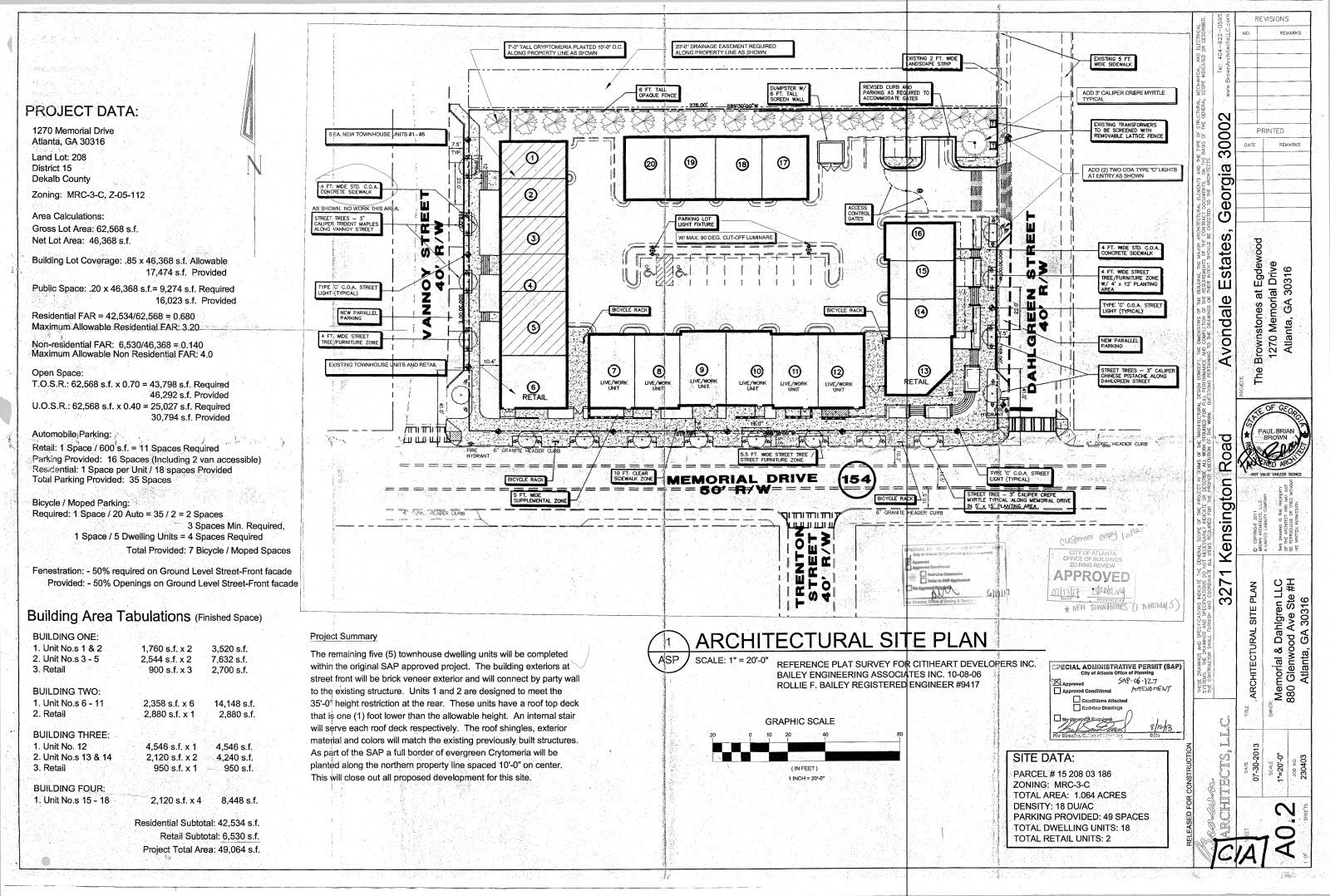 1270 Memorial Site Plan
